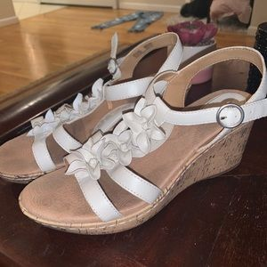 tan and white wedges!